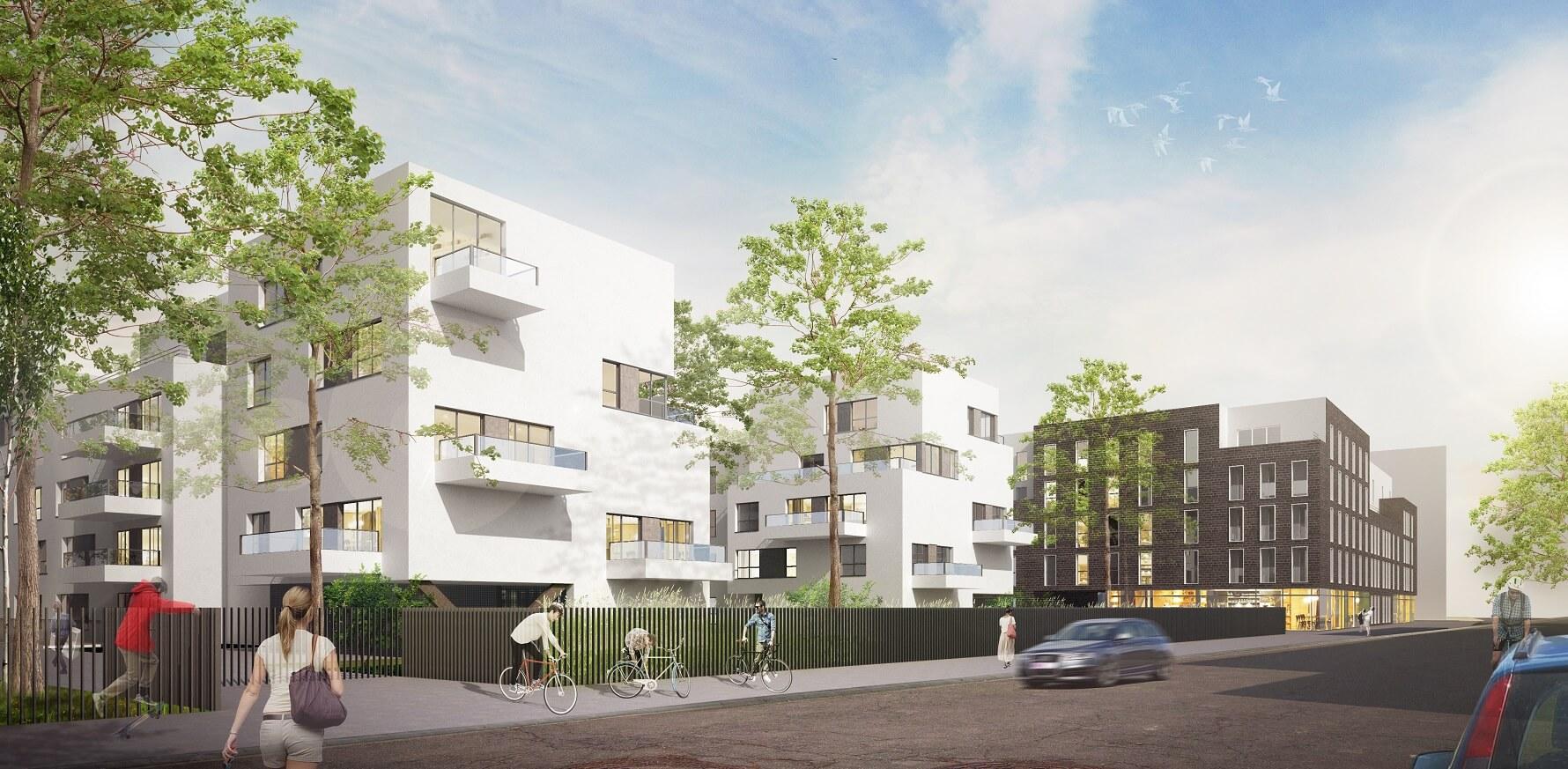 R habilitation site historique construction logements for Aea architecte