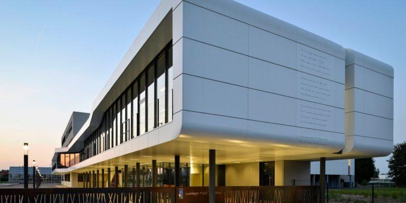 Aea Architectes Extension et Réhabilitation Collège Paul Verlaine