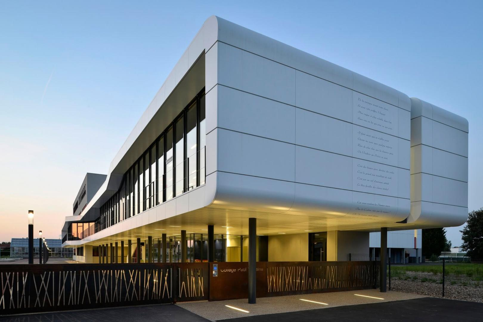 Construction B Timent Coll Ge Moselle Aea Architectes