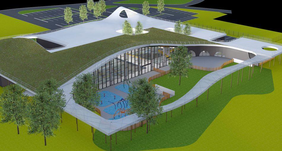 lauréat du concours pour la réalisation du centre nautique de Cernay