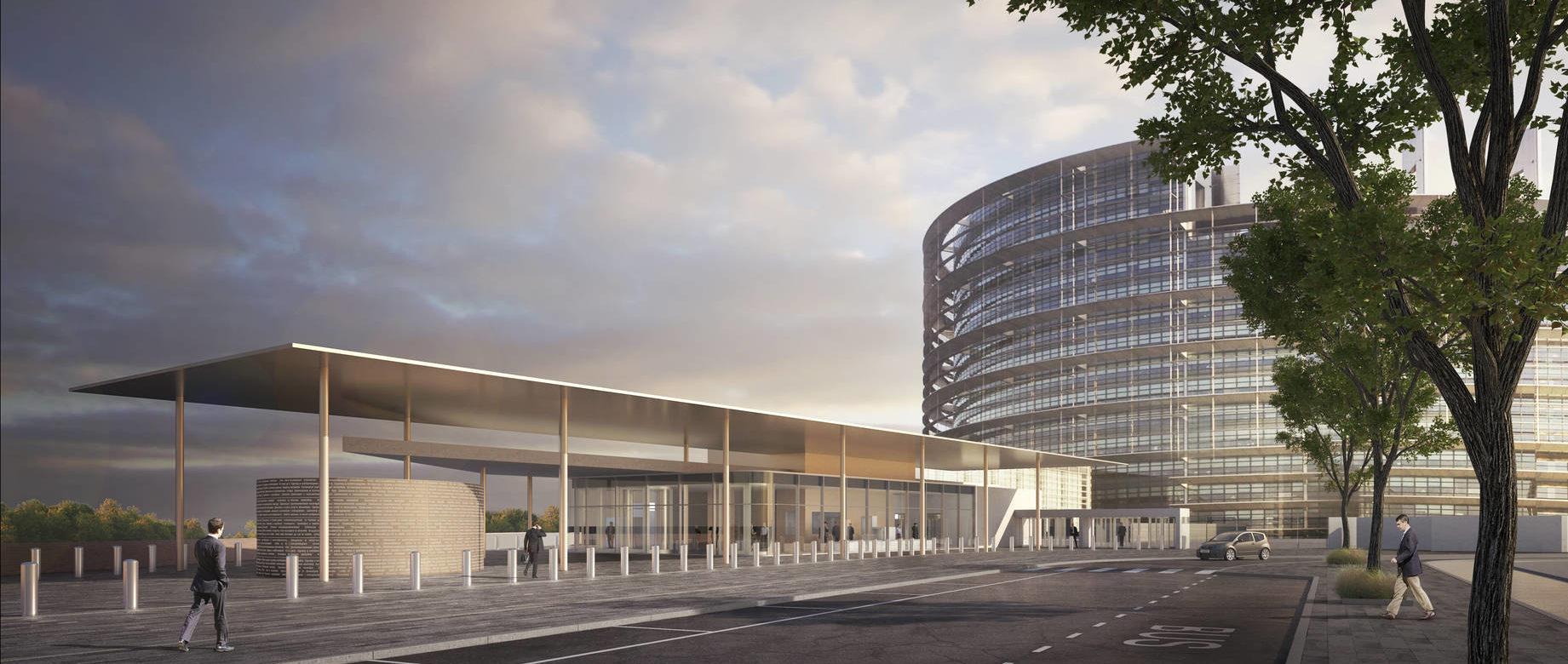entrée bâtiment louise weiss – parlement européen