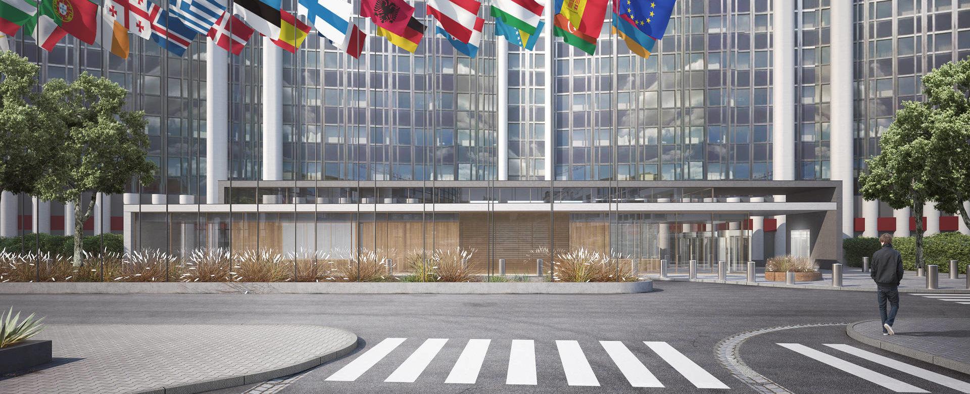 travail architecture au parlement europ en strasbourg aea architectes. Black Bedroom Furniture Sets. Home Design Ideas