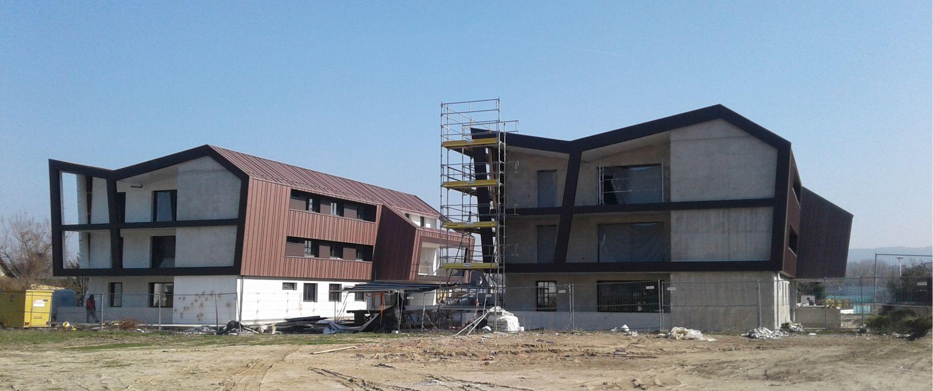 Construction logements village neuf alsace aea architectes for Aea architecte
