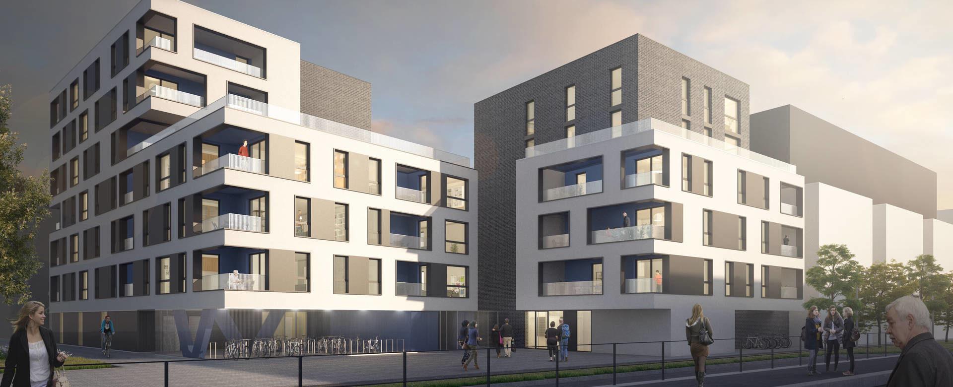 lauréat du concours pour la réalisation de 40 logements à Strasbourg