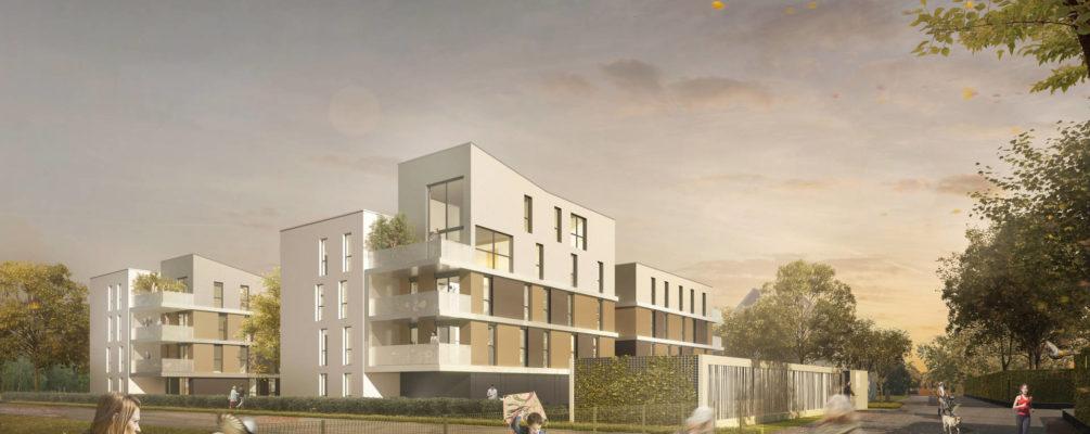 Lauréat du concours Habitat de l'Ill pour la construction de 43 logements à illkirch (67)