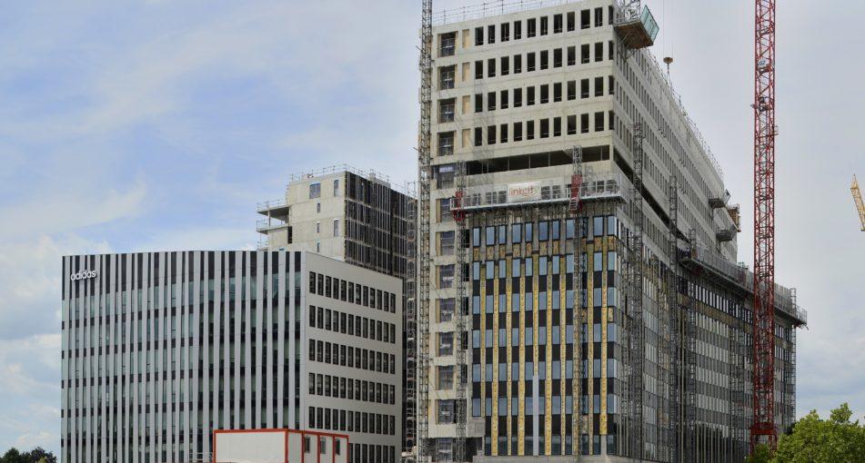 Fin du gros œuvre pour les lots 1 et 2 du quartier Archipel à Strasbourg