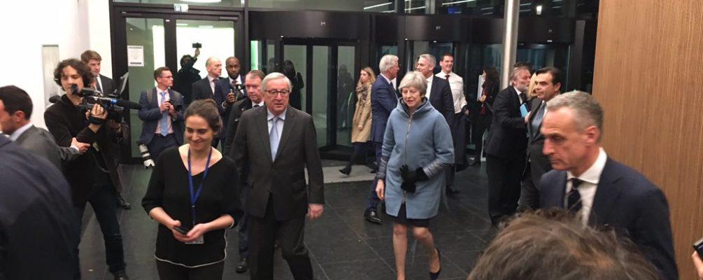 Theresa May au Parlement Européen à Strasbourg