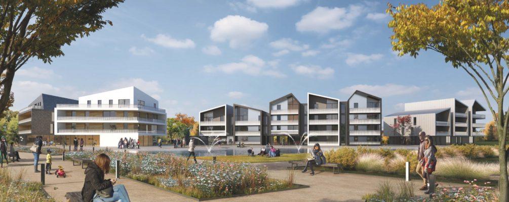 Jeu de toitures et façades séquencées pour ces nouveaux logements à la Wantzenau